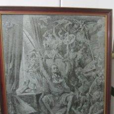 Arte: GRABADO AL ACIDO EN METAL, DON QUIJOTE - GUSTAVO DORÉ - H. PISAN - IA PUBLICIDAD 1964 70 X 55 CM.. Lote 43045749