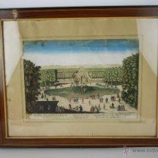 Arte: J3-027. GRABADO DEL GRAN CANAL DE VERSAILLES ENRIQUECIDO, SIGLO XVIII. Lote 43055987