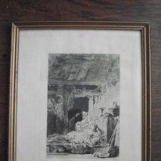Arte: LE DIABLE EN ENFER - GRABADO DE FRAGONARD. Lote 43058122