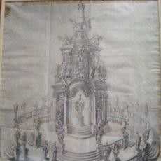 Arte: BELLO GRABADO. REPRESENTACIÓN ARTISTICA DE CARLO MAGNO Y SUS DESCENDIENTES. 1763.. Lote 43186018