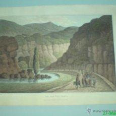Art: WILLIAM BRADFORD - PASO CERCA DE VILLAFRANCA - LEON - 1809 - GUERRA DE LA INDEPENDENCIA. Lote 43242798
