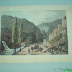 Art: WILLIAM BRADFORD VISTA CERCA DE VILLAFRANCA LEON GRABADO 1809 GUERRA DE LA INDEPENDENCIA. Lote 43242838