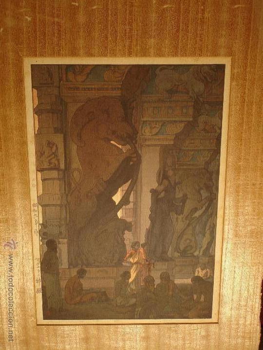 GRABADO ANTIGUO GRANDE DE ASIRIOS MESOPOTAMIA. (Arte - Grabados - Antiguos hasta el siglo XVIII)