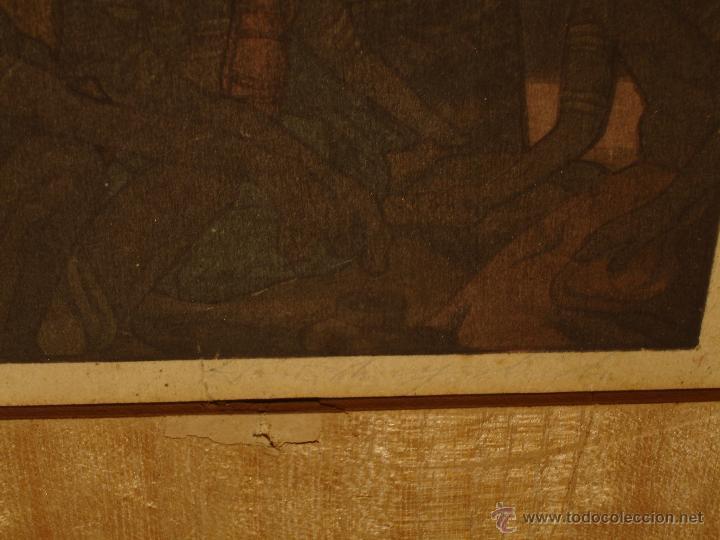 Arte: GRABADO ANTIGUO GRANDE DE ASIRIOS MESOPOTAMIA. - Foto 3 - 43278126