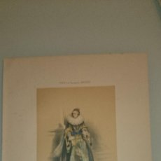 Arte: FRAGONARD - LIT. LETRONNE - LA CAMARERA MAYOR XVII SIECLE - PARIS 1841 - 34,7 X 27,5 CM. TRAJES. Lote 43404838
