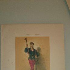 Arte: FRAGONARD - LIT. LETRONNE - LE ROI DES RIBAUDS XVI SIECLE - PARIS 1841 - 34,7 X 27,5 CM. TRAJES. Lote 43404899