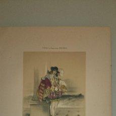 Arte: FRAGONARD - LIT. LETRONNE - LE PAGE EL PAJE XVII SIECLE - PARIS 1841 - 34,7 X 27,5 CM. TRAJES. Lote 43404923
