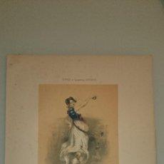 Arte: FRAGONARD - LIT. LETRONNE - LA CHICA DEL ESCUADRÓN XVI SIECLE - PARIS 1841 - 34,7 X 27,5 CM. TRAJES. Lote 43405025