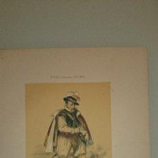 Arte: FRAGONARD - LIT. LETRONNE - EL AVENTURERO XVI SIECLE - PARIS 1841 - 34,7 X 27,5 CM. TRAJES. Lote 43405038