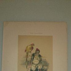 Arte: FRAGONARD - LIT. LETRONNE - EL ENANO XVI SIECLE - PARIS 1841 - 34,7 X 27,5 CM. TRAJES. Lote 43405053