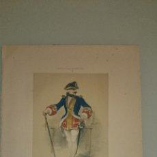 Arte: FRAGONARD - LIT. LETRONNE - EL RECLUTADOR XVIII SIECLE - PARIS 1841 - 34,7 X 27,5 CM. TRAJES. Lote 43405088