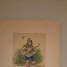 Arte: FRAGONARD - LIT. LETRONNE - LE MENESTREL XV SIECLE - PARIS 1841 - 34,7 X 27,5 CM. TRAJES. Lote 43405104