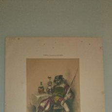 Arte: FRAGONARD - LIT. LETRONNE - LANSQUENET XVI SIECLE - PARIS 1841 - 34,7 X 27,5 CM. TRAJES. Lote 43405132