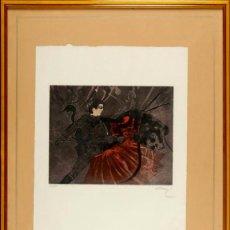 Arte: OVISSI NASSER IRÁN 1934TAUROMAQUIA GRABADO CON PAN DE ORO EJEMPLAR 17/50. Lote 43561126