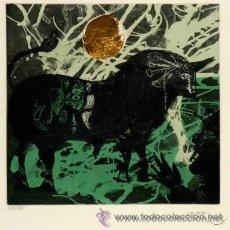 Arte: OVISSI NASSER IRÁN 1934 TAUROMAQUIA. GRABADO CON PAN DE ORO EJEMPLAR 20/50.. Lote 43561193