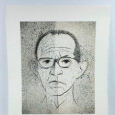 Arte: SUBIRACHS, AÑO 1986. SALVADOR ESPRIU. TIRAJE DE 150 EJEMPLARES 74/150. 41X31 CM.. Lote 43564645