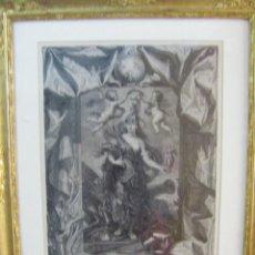 Arte: GRABADO MARIE DE MEDICIS SOUS LA FORME DE MINERVE, DIBUJO DE RUBENS ESTAMPADO EN PARÍS 1708. Lote 43956043