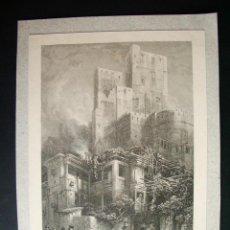 Arte: 1840- TORRE DEL BERMELLÓN, GRANADA?. GRABADO ORIGINAL. Lote 44191494