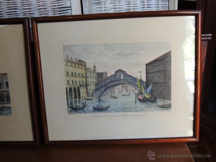Arte: PAREJA DE GRABADOS ITALIANOS CON ESCENAS VENECIANAS - Foto 2 - 44245771