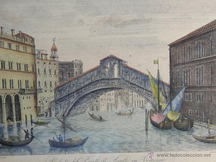 Arte: PAREJA DE GRABADOS ITALIANOS CON ESCENAS VENECIANAS - Foto 3 - 44245771