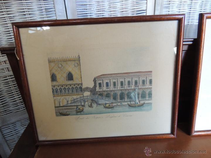 Arte: PAREJA DE GRABADOS ITALIANOS CON ESCENAS VENECIANAS - Foto 5 - 44245771