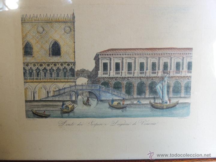 Arte: PAREJA DE GRABADOS ITALIANOS CON ESCENAS VENECIANAS - Foto 6 - 44245771