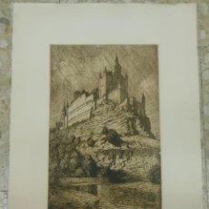 Arte: SEGOVIA - GRAN AGUAFUERTE DEL ALCAZAR 1970 - GRANDES DIMENSIONES. Lote 44300083