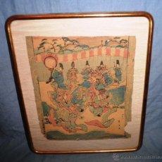 Arte: ANTIGUO GRABADO JAPONES ORIGINAL - SIGLO XVIII - EXCEPCIONAL. . Lote 44404073