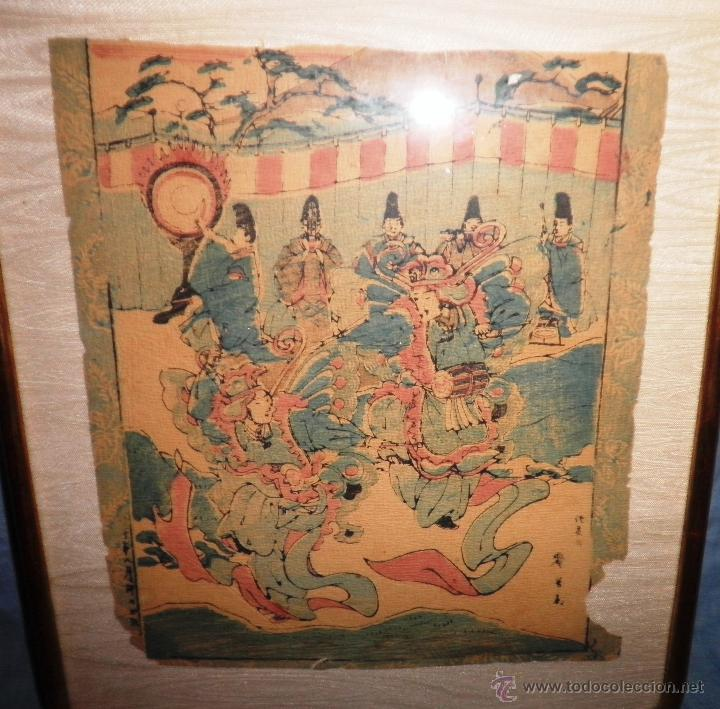 Arte: ANTIGUO GRABADO JAPONES ORIGINAL - SIGLO XVIII - EXCEPCIONAL. - Foto 2 - 44404073