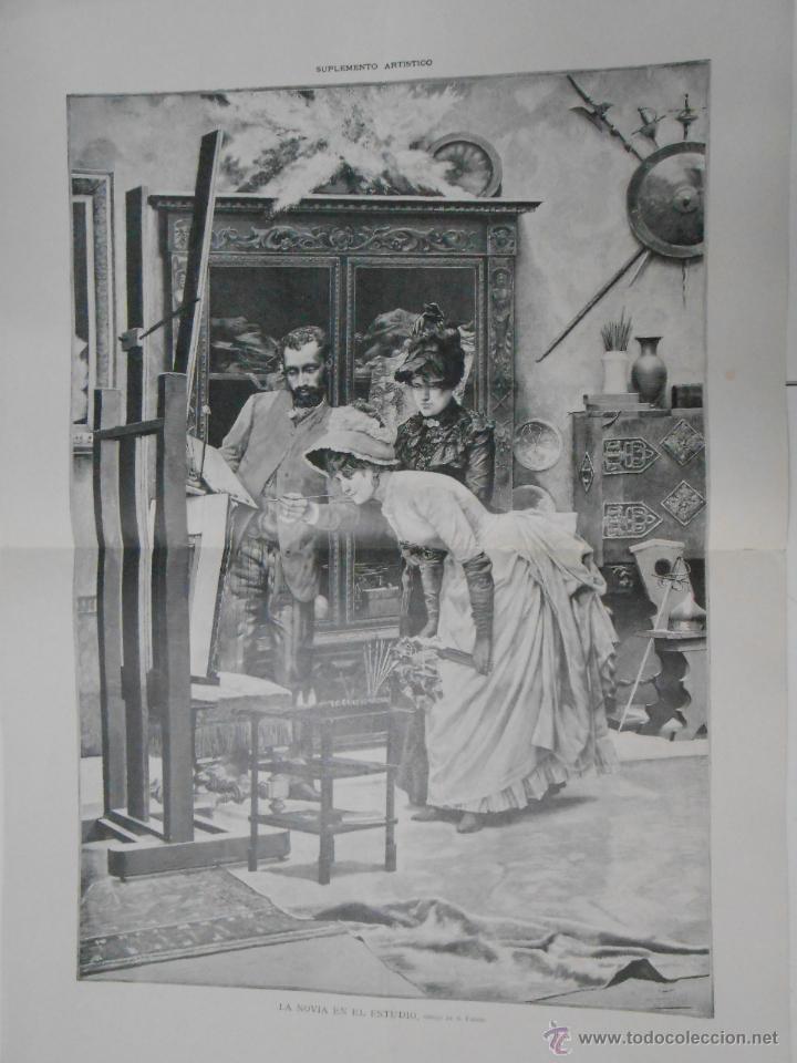 LA NOVIA EN EL ESTUDIO, DIBUJO DE A. FABRÉS. TDKPR1 (Arte - Grabados - Modernos siglo XIX)