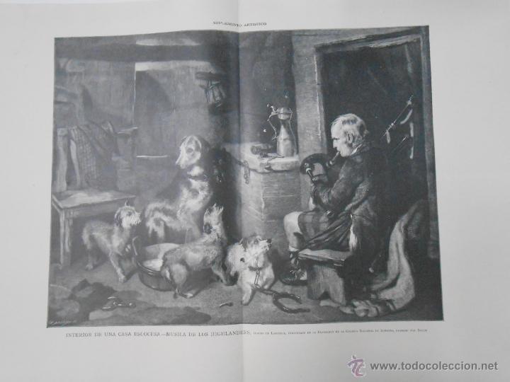 INTERIOR DE UNA CASA ESCOCESA.- BAUDE. LA ILUSTRACIÓN ARTÍSTICA. TDKPR1 (Arte - Grabados - Modernos siglo XIX)