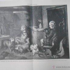 Arte: INTERIOR DE UNA CASA ESCOCESA.- BAUDE. LA ILUSTRACIÓN ARTÍSTICA. TDKPR1. Lote 44416134