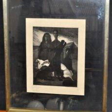 Arte: CARLES MADIROLAS (BARCELONA, 1934 - 2007) GRABADO ORIGINAL DEL AÑO 1955. Lote 44465689