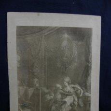 Arte: GRABADO ESCENA GALANTE LAWRANCE DEL DE LAUNAY SE. L HEUREUX MOMENT DECLARACIÓN AMOR SIGLO XIX 36X26. Lote 44668197