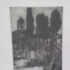 Arte: JOSEP BADIA SABATÉ. PINTOR, GRABADOR NACIDO EN FRANCIA EN1928. UN AÑO DESPUÉS SE TRASLADÓ A TERRASSA. Lote 44702969