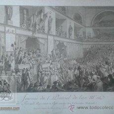 Arte: GRABADO - JOURNEE DU IER PRAIRIAL DE L'AN III. FERRAUD, REPRESENTANT DU PEUPLE ASSASSINE DANS .... Lote 44733490