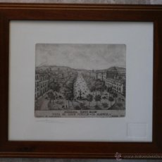 Arte: LA MALAGA DEL SIGLO XIX: VISTA DEL PASEO LA ALAMEDA – GRABADO AL AGUAFUERTE – FIRMA Y SELLO SOMERA. Lote 44762043