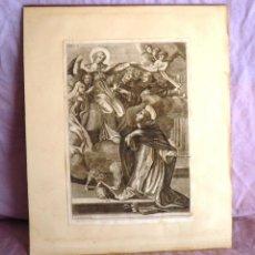 Arte: ANTIGUO GRABADO ORIGINAL SIGLO XVII - MONCORNET - GRAN FORMATO.. Lote 44771507