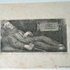 Arte: MUY ANTIGUO Y DIFICILISIMO GRABADO DE SAN LEONARDI CONFESSORIS (CORPUS) EN SU LECHO DE MUERTE!!!. Lote 44864549