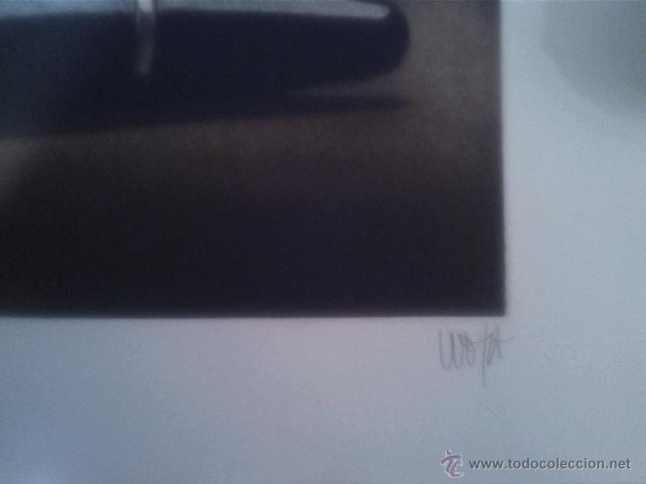 Arte: Grabado firmado y numerado de una pluma mont blanc - Foto 2 - 44887670