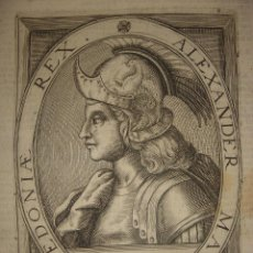 Arte: GRABADO DE ALEJANDRO MAGNO, ORIGINAL, AMSTERDAM, 1621, DE CLERCK ESPLÉNDIDO. Lote 51668080