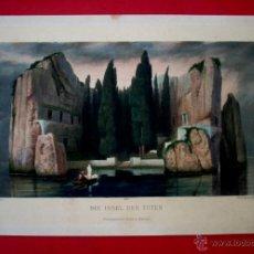 Arte: LA ISLA DE LOS MUERTOS - ARNOLD BÖCKLIN - PHOTOGRAVURE BRUCKMANN. Lote 44933472