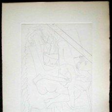 Arte: PABLO RUIZ PICASSO GRABADO AL AGUAFUERTE ORIGINAL NUMERADO AMORES FEMENINOS 1951 BLOCH 690 BAER 889. Lote 45095048