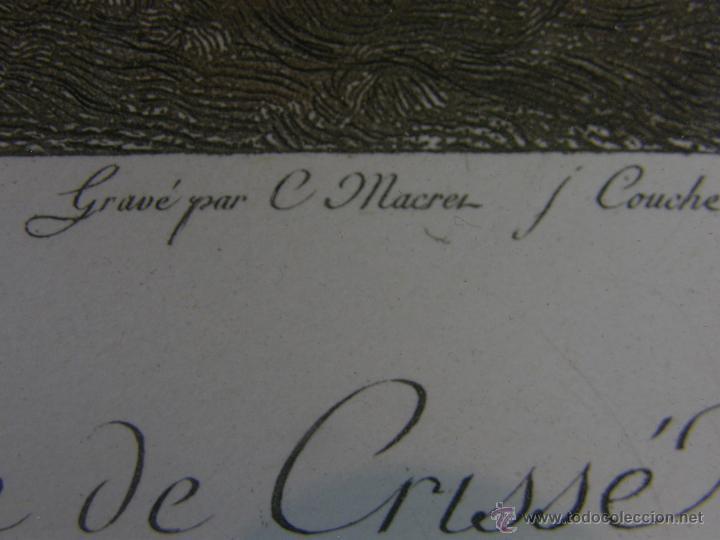 Arte: Grabado a color la fuite a Dessein de principios s. XX según modelo XVIII de original de Fragonard - Foto 7 - 45133046