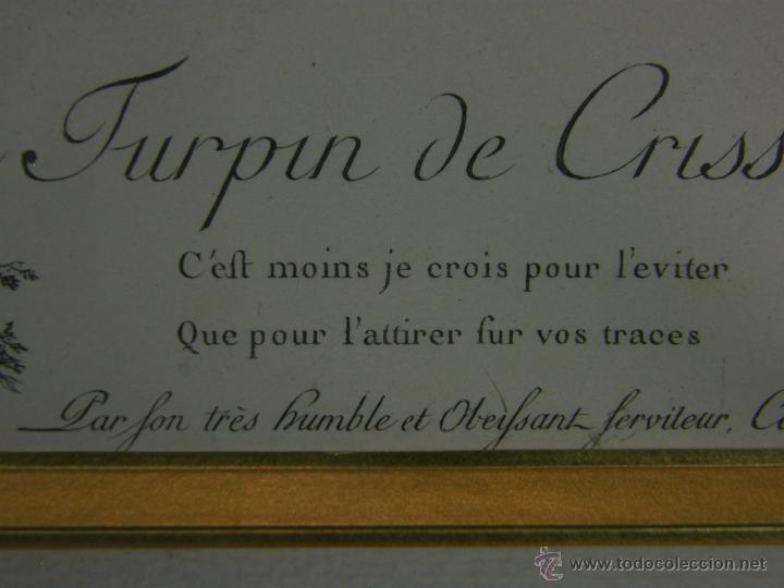 Arte: Grabado a color la fuite a Dessein de principios s. XX según modelo XVIII de original de Fragonard - Foto 8 - 45133046