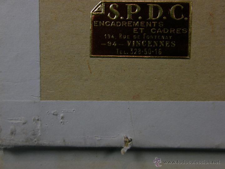 Arte: Grabado a color la fuite a Dessein de principios s. XX según modelo XVIII de original de Fragonard - Foto 11 - 45133046