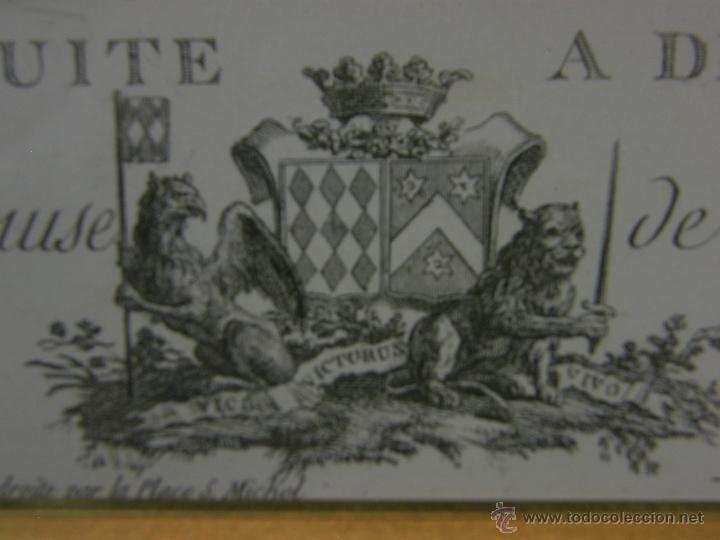 Arte: Grabado a color la fuite a Dessein de principios s. XX según modelo XVIII de original de Fragonard - Foto 13 - 45133046