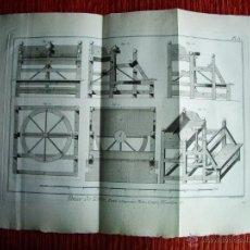 Arte: 1783-GRABADO PLANO RUEDA COMPUESTA-ALFARERO-CERAMISTA-BERNARD-ENCICLOPEDIA DIDEROT-ORIGINAL-45X31 CM. Lote 45387193
