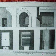 Arte: 1783-GRABADO HORNOS DE ALFARERO-CERAMISTA-BERNARD- ENCICLOPEDIA DIDEROT-ORIGINAL-23X31 CM. Lote 45387555