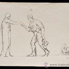 Arte: PERE YNGLADA SALLENT (SANTIAGO DE CUBA, 1881 - BARCELONA, 1958) GRABADO. PERSONAJES. Lote 45406498